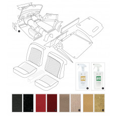Complete interior trim kit - XK150 OTS