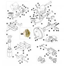 Brake servo and master cylinder