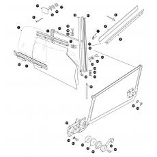 Door glass and window regulator - OTS