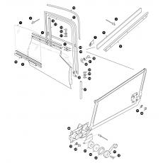 Door glass and window regulator - FHC
