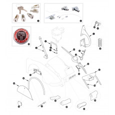 Boot lid fittings - XK150
