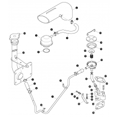 Engine breather system - 4 cylinder petrol engine with emission control system