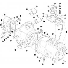 Gearbox, outer - Serie II and Serie IIA