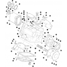 Transfer gearbox, outer - Serie II and Serie IIA
