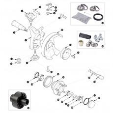 Swivel and wheel hub