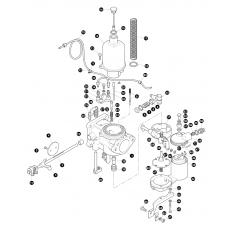 SU HD6 internal carburettor - 2.6 liter petrol engine, Serie IIA and Serie III