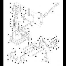 5 speed LT85 manual transmission - gear lever, selector forks and selector shafts