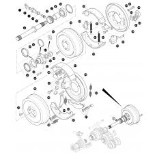 Transfer box LT230 - rear output shaft and transmission brake