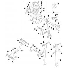 Transfer box LT230 - rod assembly for LT77 without pivot