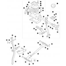 Transfer box LT230 - rod assembly for LT85