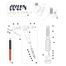 Shock absorbers and coil springs - 130' models