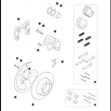 Rear brakes - disc brake without ABS