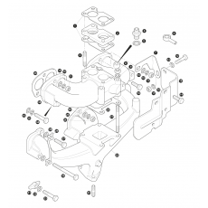Inlet and exhaust manifold - 2.25 Petrol