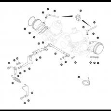 Throttle likage - SU HI44F carburettor - 3.5 litre 8 cylinder petrol engine