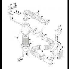 Air cleaner - 4 cylinder turbo diesel engine (not TDi)