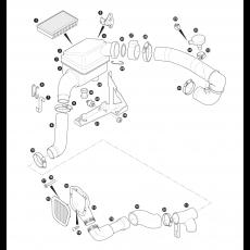 Air cleaner - 5 cylinder turbo diesel engine - Td5