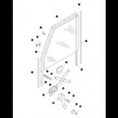 door glass and mechanics - front