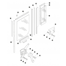 door glass and mechanics - rear