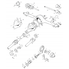 Rear axle and propshaft