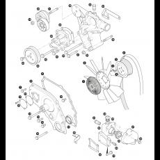 Water pump, fan belt and fan blade - 300Tdi Diesel