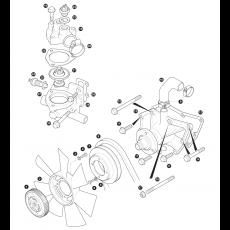 Water pump, fan belt and fan blade - 200Tdi Diesel