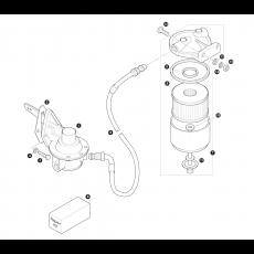Mechanical fuel pump and fuel filter - carburettor models (1970-73)