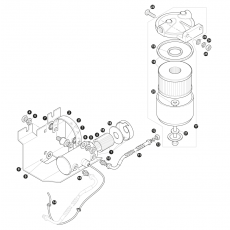 Electrical fuel pump and fuel filter - carburettor models (1970-73)