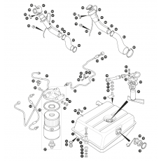 Fuel pipes, fuel pump and fuel tank - carburettor models (1985-88)
