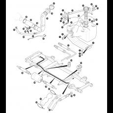 Fuel pipes, fuel pump and fuel tank - EFI models