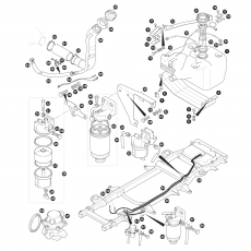 Fuel pipes, fuel pump and fuel tank - VM Diesel (1990-92)