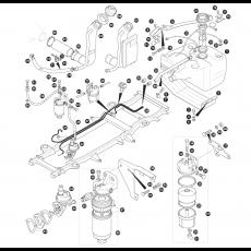 Fuel pipes, fuel pump and fuel tank - Tdi Diesel (1996-96)