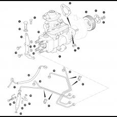 Injector pump, injector pipes and injectors 200Tdi