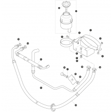 Hydraulic hose and oil reservoir power steering - 200 Series