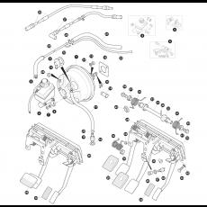 Brake hydraulics - master cylinder, servo and pedal