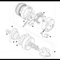 Lucas alternator type A133/80, A127/85 and A127/100