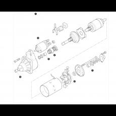 Bosch type starter motor