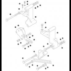 Alternator brackets and fixings for Diesel models