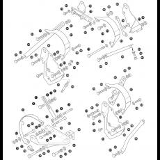 Alternator brackets and fixings for V8 models