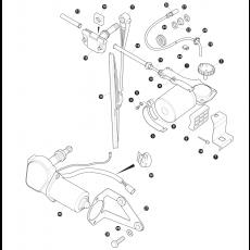 Windscreen wiper and wiper motor rear screen