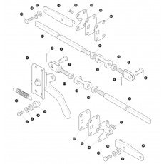Lower tailgate fixings: Lock mechanism