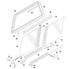 Rear side screens and rubber seals (multi piece frame type)