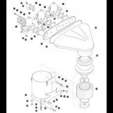 Triple SU-HD8 carburettors and air filter