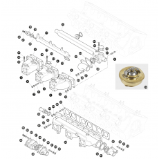 Inlet manifold for models with triple SU-HD8 carburettors