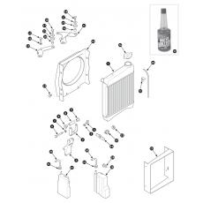 Radiator and fitting - one piece radiator cowl