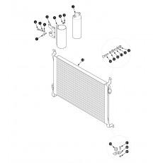 Heater and air condition: condenser and receiver drier - Series I with air condition