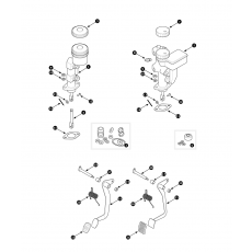 Brake hydraulic - dual line brake system diagonal split