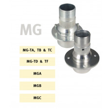 Wire wheel hubs for MG