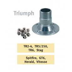 Wire wheel hubs for Triumph