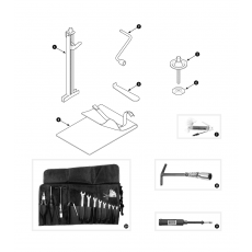 Car jack and tools