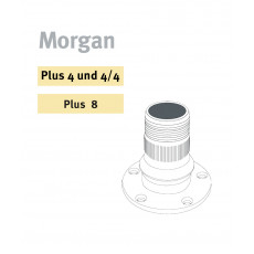 Wire wheel hubs for Morgan